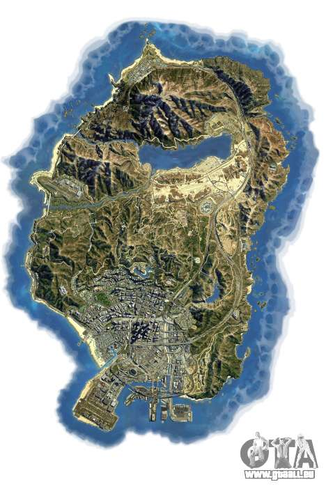 GTA 5 Sat-Karte in 2K zweite Screenshot