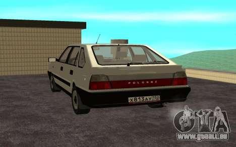 Daewoo FSO Polonez Caro Plus pour GTA San Andreas laissé vue