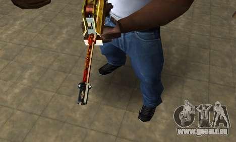 Golden AUG A3 pour GTA San Andreas deuxième écran