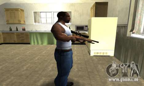 Gold Sniper Rifle für GTA San Andreas zweiten Screenshot