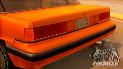 Taxi Intruder pour GTA San Andreas vue arrière