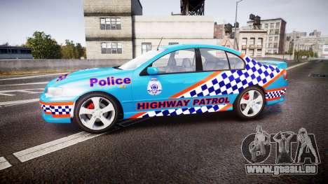 Ford Falcon BA XR8 Police [ELS] pour GTA 4 est une gauche