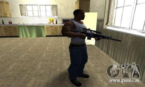 Blue Oval Sniper Rifle pour GTA San Andreas troisième écran