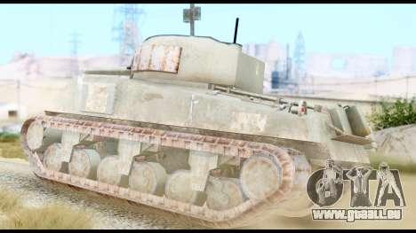 M4 Sherman 75mm Gun Urban pour GTA San Andreas laissé vue