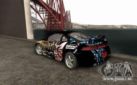 Mitsubishi Eclipse GSX NFS Prostreet pour GTA San Andreas laissé vue