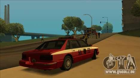 FDSA Premier Cruiser pour GTA San Andreas vue intérieure