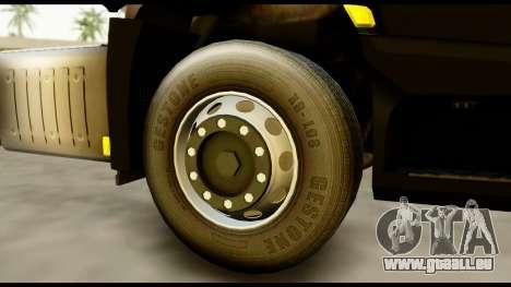 Mercedes-Benz Actros MP4 4x2 Exclusive Interior pour GTA San Andreas sur la vue arrière gauche