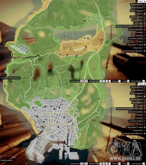 Carte de la couleur de v0.2 pour GTA 5