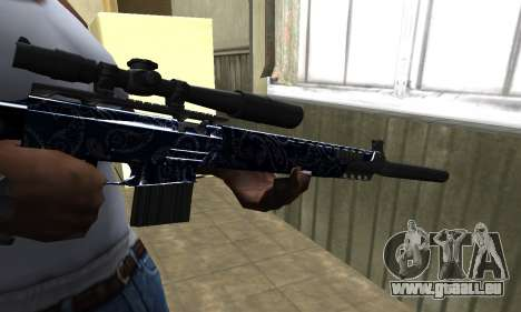Blue Oval Sniper Rifle für GTA San Andreas