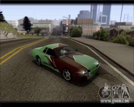 Elegy Hard Stunt für GTA San Andreas obere Ansicht