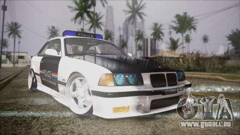 BMW M3 E36 Police pour GTA San Andreas
