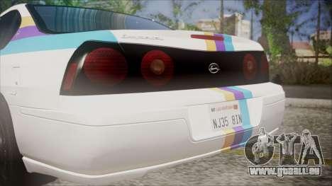 Chevrolet Impala FBI Slicktop pour GTA San Andreas vue arrière
