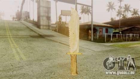 Red Dead Redemption Knife Legendary Assasin für GTA San Andreas zweiten Screenshot