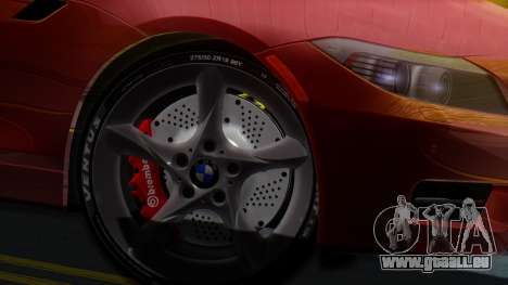 BMW Z4 sDrive35is 2011 2 Extras pour GTA San Andreas sur la vue arrière gauche