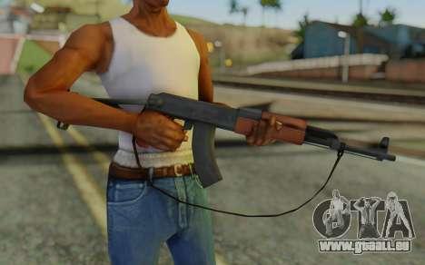 AK-47S with Strap für GTA San Andreas dritten Screenshot