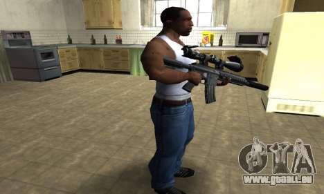 M4 with Optical Scope pour GTA San Andreas troisième écran