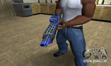 Blue Lines Combat Shotgun für GTA San Andreas zweiten Screenshot