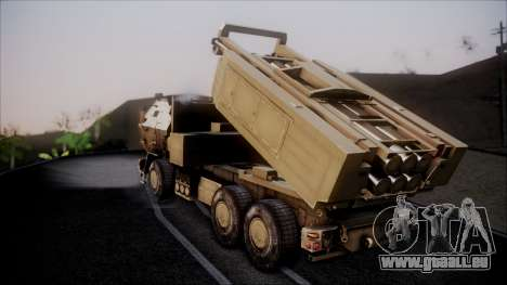 M142 HIMARS Desert Camo pour GTA San Andreas laissé vue