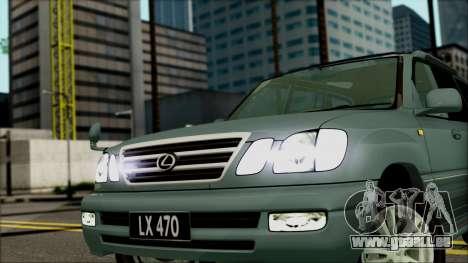 Lexus LX470 pour GTA San Andreas vue de droite