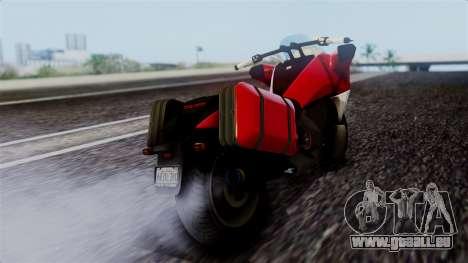 Dinka Vindicator SA Plate pour GTA San Andreas laissé vue