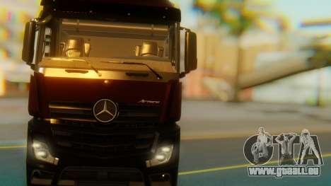 Mercedes-Benz Actros MP4 Stream Space Black für GTA San Andreas Innenansicht