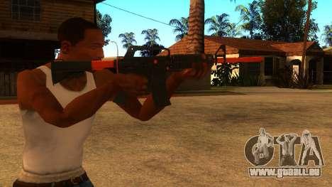 M4A1 Nitro pour GTA San Andreas troisième écran