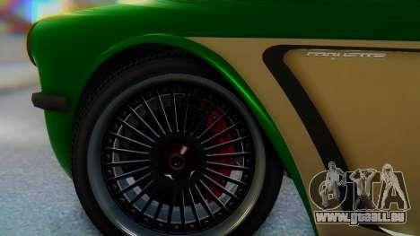 Invetero Coquette BlackFin v2 GTA 5 Plate pour GTA San Andreas sur la vue arrière gauche