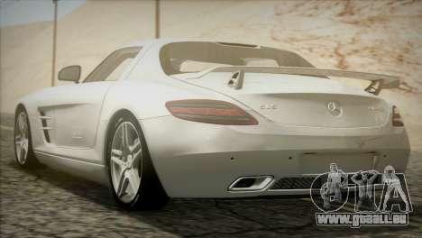 Mercedes-Benz SLS AMG 2013 für GTA San Andreas zurück linke Ansicht