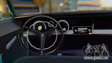 Dodge Dart Coupe pour GTA San Andreas vue intérieure