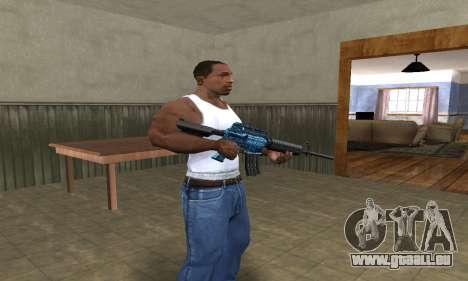 M4 Blue Snow pour GTA San Andreas deuxième écran
