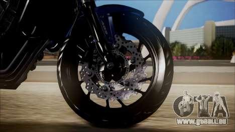 Honda CB650F Azul pour GTA San Andreas sur la vue arrière gauche