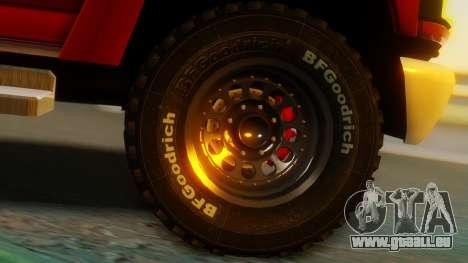 GMC Topkick C4500 pour GTA San Andreas sur la vue arrière gauche