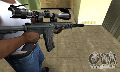 M4 with Optical Scope pour GTA San Andreas