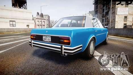 GTA V Benefactor Glendale pour GTA 4 Vue arrière de la gauche