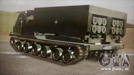 Hellenic Army M270 MLRS pour GTA San Andreas laissé vue