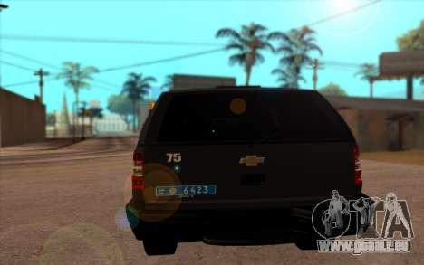 Chevrolet Blazer Berkut pour GTA San Andreas sur la vue arrière gauche