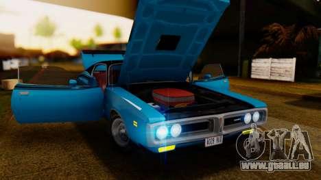 Dodge Charger Super Bee 426 Hemi (WS23) 1971 IVF pour GTA San Andreas vue arrière