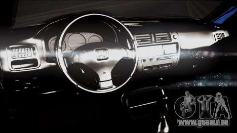 Honda Civic, La B. O. De La Construction pour GTA San Andreas vue de droite