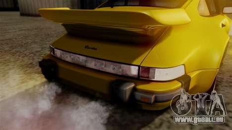 Porsche 911 Turbo (930) 1985 Kit C PJ pour GTA San Andreas vue de dessus