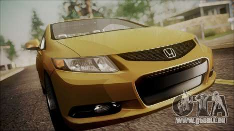 Honda Civic SI 2012 pour GTA San Andreas vue arrière