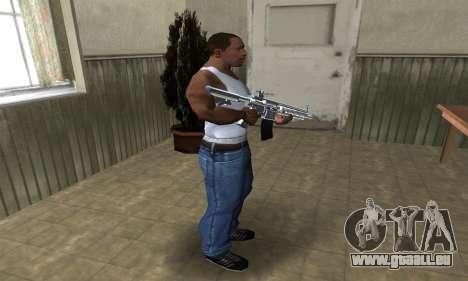 White Cool M4 pour GTA San Andreas troisième écran