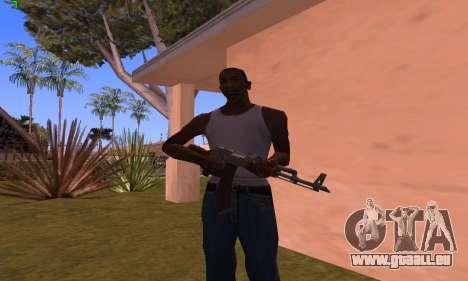 AK-47 from Battlefield Hardline pour GTA San Andreas troisième écran