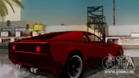 Cheetah New Edition für GTA San Andreas linke Ansicht