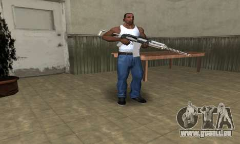 White with Black AK-47 pour GTA San Andreas troisième écran