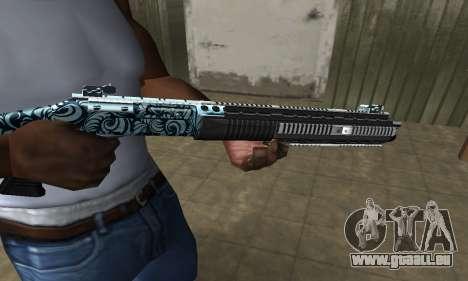 Blue Snow Shotgun pour GTA San Andreas