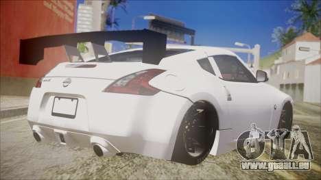 Nissan 370Z SPPC pour GTA San Andreas laissé vue
