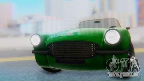 Invetero Coquette BlackFin v2 GTA 5 Plate pour GTA San Andreas vue arrière