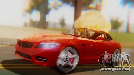 BMW Z4 sDrive35is 2011 2 Extras pour GTA San Andreas