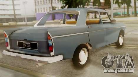 Peugeot 404 pour GTA San Andreas laissé vue