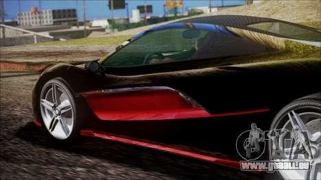 GTA 5 Progen T20 pour GTA San Andreas vue de droite